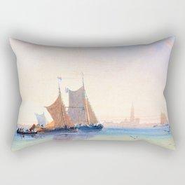 David Cox - Antwerp, Morning - Digital Remastered Edition Rectangular Pillow