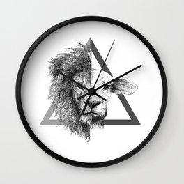 Lion and Lamb Wall Clock