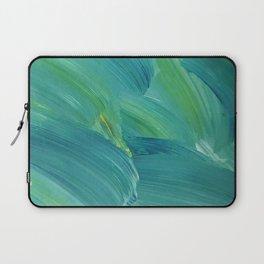 Blue-Green Brush Strokes Laptop Sleeve