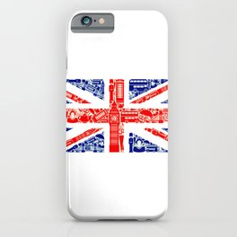 Great Britain Landmark Flag iPhone Case