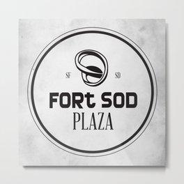 Fort Sod Plaza Metal Print