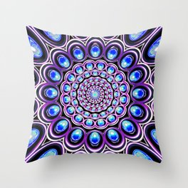 Turquoise Iterations: Sprinkles of Amethyst Throw Pillow