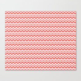 Coral Chevron Canvas Print