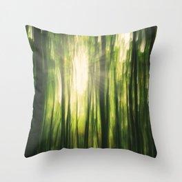 Forest Sunburst V Throw Pillow