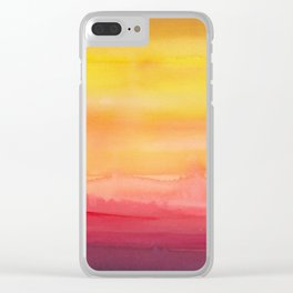 Heat waves Clear iPhone Case