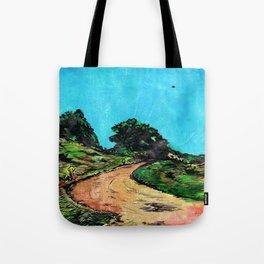 Dirt Road ( with U.F.O.) Tote Bag