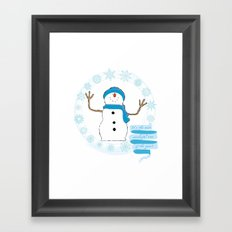 Christmas snowman Framed Art Print