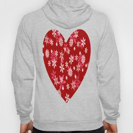Red Heart Of Snowflakes Loving Winter and Snow Hoody