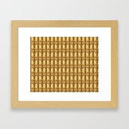 Wood Lattice Framed Art Print