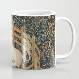Vintage Fenced in Unicorn Painting (1505) Coffee Mug