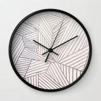 stripe Wall Clocks featuring stripe by HooVeHee