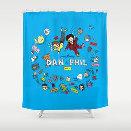 The Vortex of Everything Dan and Phil Shower Curtain
