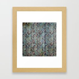 Kashmir on Wood 06 Framed Art Print