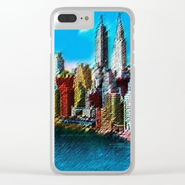 Midtown Manhattan New York City Skyline Portrait - Jéanpaul Ferro Clear iPhone Case