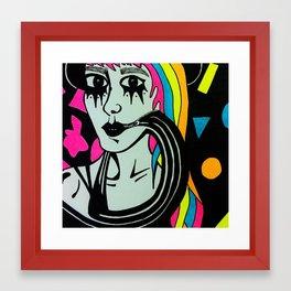 sour girl Framed Art Print