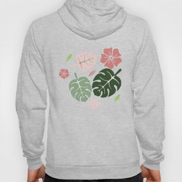 Tropical leaves White paradise #homedecor #apparel #tropical Hoody