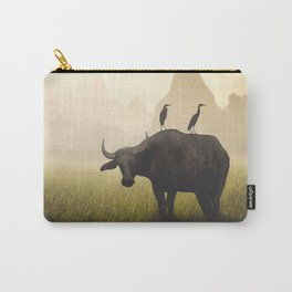 Water Buffalo And Egrets Carry-All Pouch