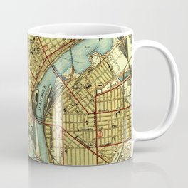 Vintage Map of Toledo Ohio (1938) Coffee Mug