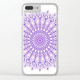 Violet mandala Clear iPhone Case