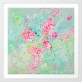 A dash of pink Art Print