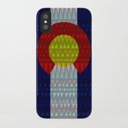 Colorado Flag/Geometric iPhone Case