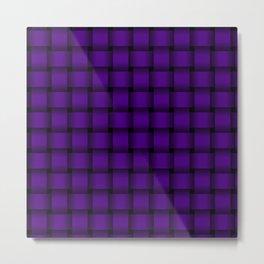 Indigo Violet Weave Metal Print