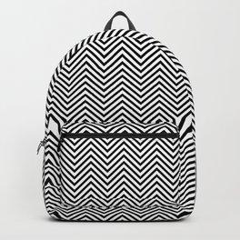 Classic Black & White Chevron Pattern Backpack