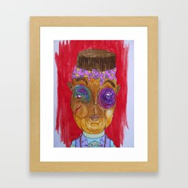 A new king in town Framed Art Print