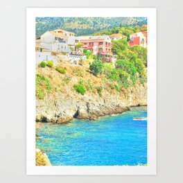 travel collection. Greece Art Print