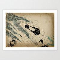 pool Art Prints featuring Pool by Agne Nananai