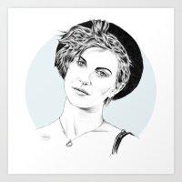 hayley williams Art Prints featuring Hayley Williams by najidsalihu