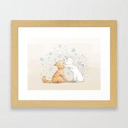 When We Kiss, I See Stars Framed Art Print