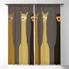 Triple LLAMAS ALPACAS CAMELS - Dark Blackout Curtain