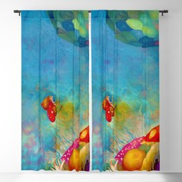 Children in the faery land illustration Blackout Curtain