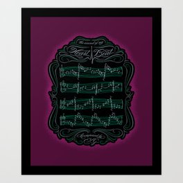 The Sound of My Heart Beat Art Print