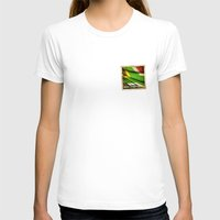 south africa T-shirts featuring South Africa grunge sticker flag by Lulla