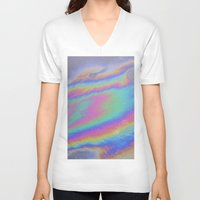 holographic V-neck T-shirts featuring Holographic by Nestor2