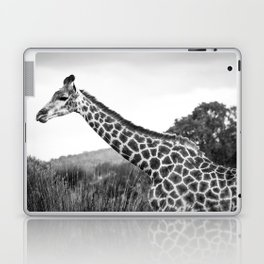 Giraffe walking in African Savanna Laptop & iPad Skin