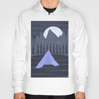 camping Hoodies featuring Camping by Illusorium