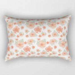 Peachy Floral Rectangular Pillow