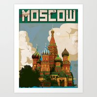 moscow Art Prints featuring Moscow  by Nick's Emporium Gallery