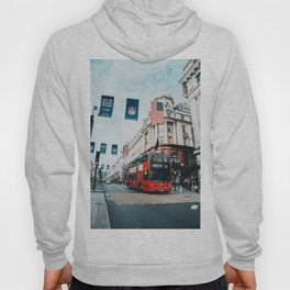 London Bus at Piccadilly Square by James Connolly Hoody