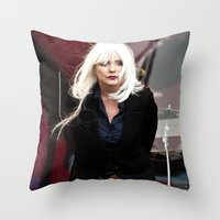 blondie Throw Pillows featuring Blondie by Euan Anderson