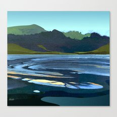 Low Tide, Late Evening Canvas Print