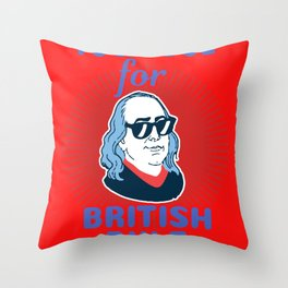 USA England Colony Freedom Independance Gift Throw Pillow