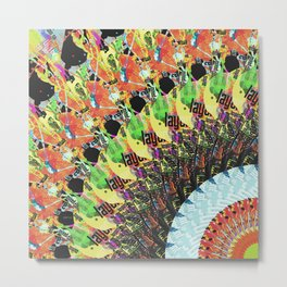 Abstract Collage of Colors 5 Metal Print