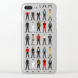 King MJ Pop Music Fashion LV Clear iPhone Case
