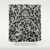lace Shower Curtains featuring Lace. by Monochrome Lace
