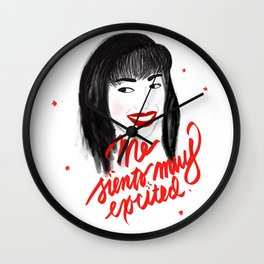 ME SIENTO MUY EXCITED Wall Clock