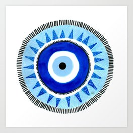 Occhio di Allah, Nazar Boncuk Art Print